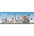 Bogota Skyline with Gray Buildings and Blue Sky vector image vector image
