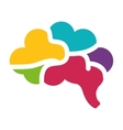 Brain icon human organ design graphic vector image vector image