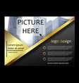 brochure flyer template magazine cover vector image