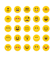 Cartoon faces with emotions Set of cute monsters vector image