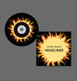 cd and case in fire and flames vector image