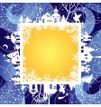 Christmas & New Year's frame vector image vector image