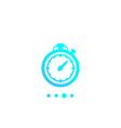 chronometer timer countdown icon vector image