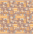 city seamless pattern top view flat design vector image vector image