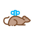 clockwork mouse icon outline vector image vector image