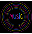 Colorful circles Music card vector image