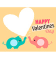 couple elephant cute vector image
