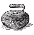 curling vintage vector image vector image