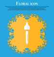 dropper sign icon pipette symbol Floral flat vector image