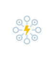 electric power distribution icon vector image