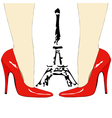 Fashion under the Eiffel Tower Paris vector image vector image