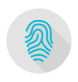 fingerprint circle icon vector image vector image