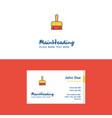 flat brush logo and visiting card template vector image