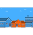 flat of house on city vector image vector image