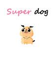 funny cartoon small dog vector image