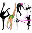 girl gymnast athlete isolated on white background vector image vector image
