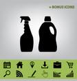 household chemical bottles sign black vector image vector image