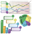 Infographic design and marketing icons can vector image