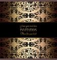 intricate baroque luxury wedding invitation card vector image vector image