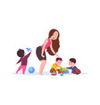 kindergarten time cute cartoon toddlers adorable vector image vector image