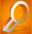 magnfier glass icon zoom examine research lookup vector image vector image