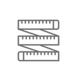 measuring tape tailor centimeter roulette line vector image