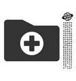 medical folder icon with people bonus vector image vector image