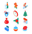 merry christmas and happy new year - modern vector image