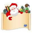 merry santa claus standing with christmas vector image vector image