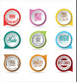 modern badges colorful collection 1 vector image vector image