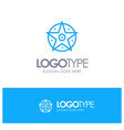 pentacle satanic project star blue logo line style vector image vector image