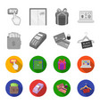 purse money touch hanger and other equipment e vector image