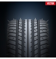 Realistic rubber tires and spikes banner vector image vector image