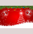 red background for happy new year and christmas vector image vector image