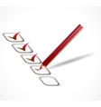 Red check list vector image