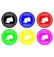 rwanda rubber stamp vector image vector image