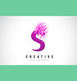 s letter logo design with purple colors vector image