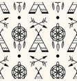 seamless geometric pattern with wigwams vector image vector image