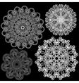 set abstract circle lace patterns vector image vector image