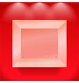 Transparent glass showcase vector image