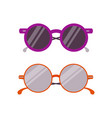 trendy circle sun glasses vector image vector image