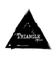 triangle shape grunge style vector image vector image
