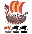 Viking Ship on White vector image