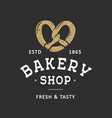 vintage style bakery shop simple label badge vector image vector image