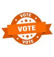 Vote ribbon vote round orange sign vote