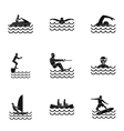 Water exercise icons set simple style vector image vector image