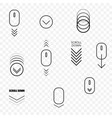 web page scroll down symbols vector image vector image
