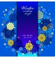 Wedding snowflakes wreath frame design Winter vector image vector image