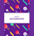 white frame with colorful geometric background vector image vector image