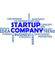 word cloud - startup company vector image vector image